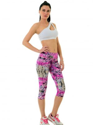 The Snake Pink Capri Leggings4