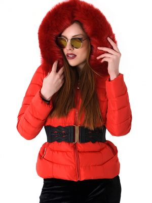 Huge Fur Down Coat Jacket-kokkino4