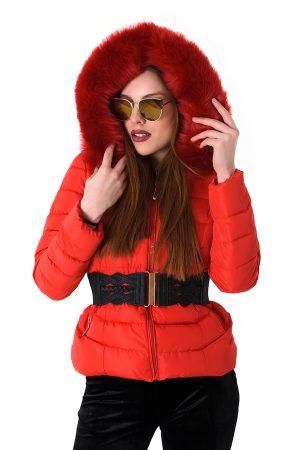 Huge Fur Down Coat Jacket-kokkino4
