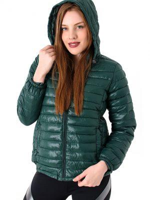 Ultra Soft Green Down Coat2