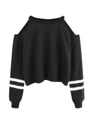 hollow cropped top sweatshirt