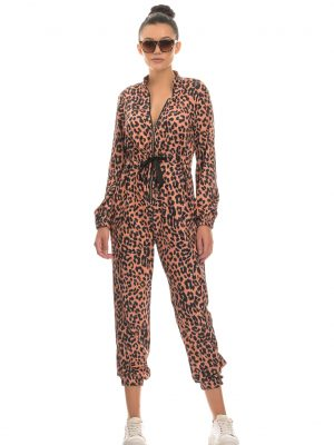leopardy jumpsuit cover