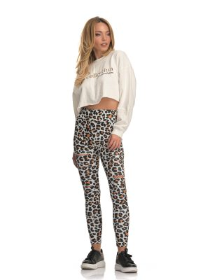 The Ripped Leopard Leggings
